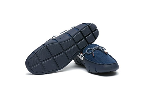 Simmar Mens Spets Loafers Marinblå / Vit Gnistan