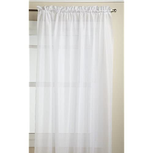 Lorraine Home Fashions Reverie 60 Inch X 72 Tailored Panel White