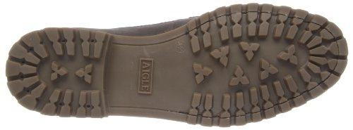 Aigle Cullin Mid Ltr - Zapatos de cuero para hombre Dark Brown/Nb