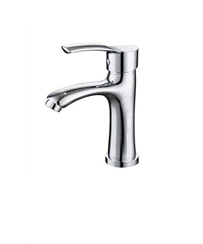 IJIAHOMIE Style of Bathroom Sink Taps, Bathroom Faucets,Waterfall Basin Sink Mixer Tap Modern Basin Copper hot and Cold Single Hole Sink