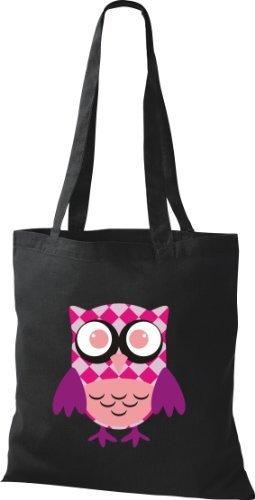 Shirtinstyle - Cotton Fabric Bag For Black Women - Black