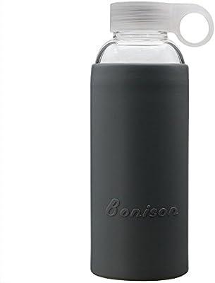 bonison tapa de botella de agua de cristal con mango suave ...