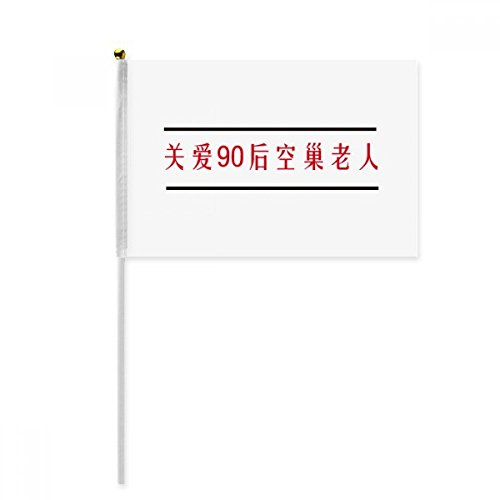 Chinese Online Words Born In 1990s Hand Waving Flag 8x5 inch Polyester Sport Event Procession Parade - Sports 1990s
