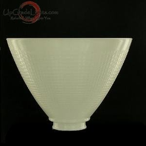 Upgradelights 8 Inch Glass Floor Lamp Reflector Shade Glass Lamp Glass