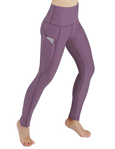 (ODODOS High Waist Out Pocket Yoga Pants Tummy Control Workout Running 4 Way Stretch Yoga)