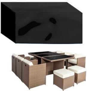 HBCOLLECTION® Housse 177x117cm pour Table Salon de Jardin rectangulaire  imperméable