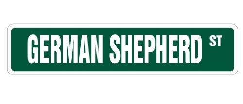 German Shepherd Street Sign Dog Lover Great pet Animal   Indoor/Outdoor   18