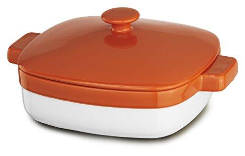 KitchenAid KBLR28CRPN Streamline Ceramic 2.8-Quart Casserole Bakeware - Persimmon
