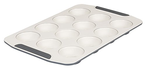 Viking 4040-3512-CGY Ceramic Nonstick Bakeware Muffin Pan, 12 Cup