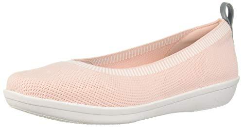 (Clarks Women's Ayla Paige Loafer Flat, light pink knit, 8 M US)