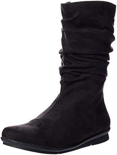 a29e50bb627 Bussola Womens Cable Closed Toe Knee High Fashion Boots