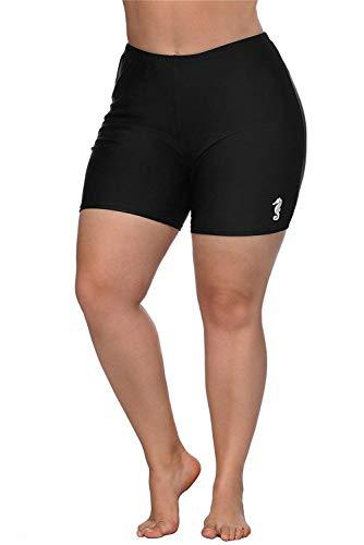 Charmo Plus Size Swim Shorts for Women Long Boardshorts Rash Guard Shorts -