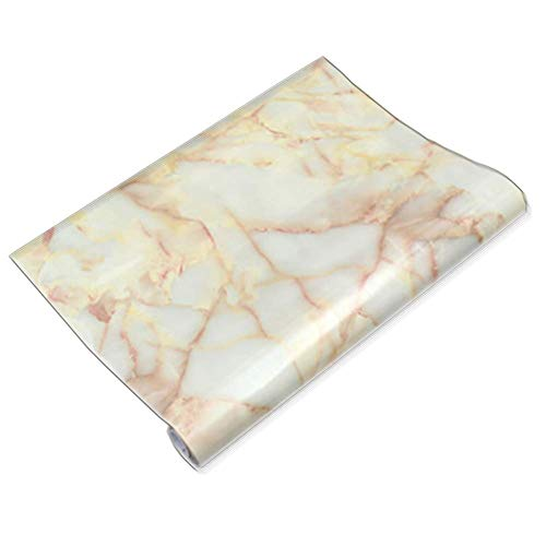 Teemall jade A535 Look Marble Effect Contact Paper Self Adhesive Pre-pasted Wallpaper 12''x60'' by Teemall