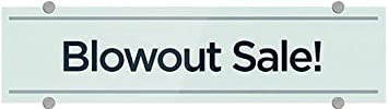 CGSignLab Basic Teal Premium Brushed Aluminum Sign 5-Pack 24x6 Blowout Sale