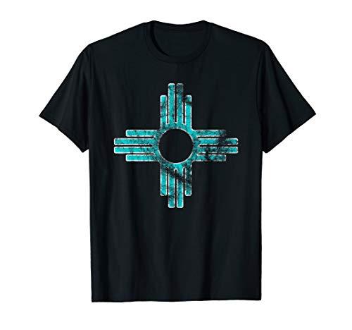 New Mexico Tshirt - Zia symbol distressed State Flag shirt - Symbol New T-shirt