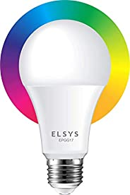 Smart Lâmpada Wi-Fi Elsys, LED 10W Bivolt, Compatível com Alexa e Google Assistente