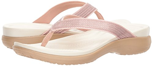 54b72e074 Crocs Women's Capri V Sequin Flip Flop | Casual Sandal With Extra Soft  Footbed and Soft