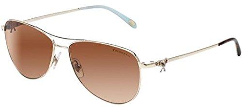 Tiffany & Co. Women TF3044 58 Gold/Brown Sunglasses - & Gold Co Tiffany