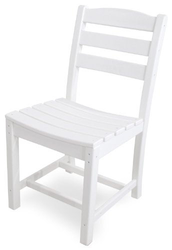 POLYWOOD TD100WH La Casa Caf Dining Side Chair, White