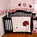 "Li'l Kids - ""L is for Ladybug"" 4-Piece Crib Bedding Set"