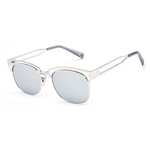 De unisex Grande Gafas hombres lente coloreada Rosado Beach Las Gafas de aire Azul UV De metal Marco al Sol para protección de Chicas Mujeres Demasiado libre de Travelling sol conducción C6 Mujeres Yqx4wd4