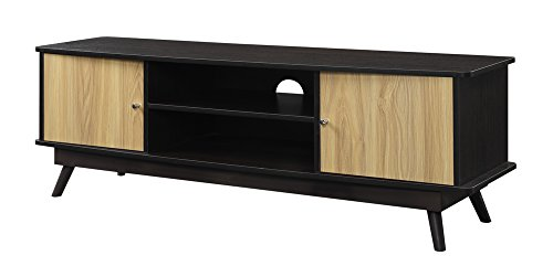 Brown Largo Furniture - Convenience Concepts Designs2Go Key Largo TV Stand, Light Oak/Espresso