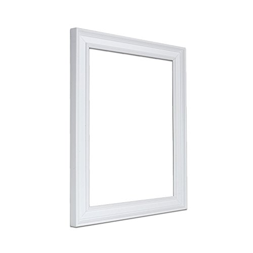 (Paintings Frames Oslo Shabby Chic Range Photo Picture Poster Frame Styrene Shatterproof Perspex Sheet & Ready to Hang Stand Oslo-Scr-Sideig-2-Wht-12-10 12