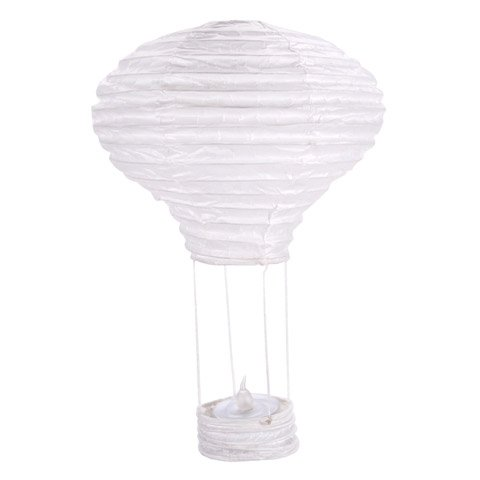 Darice-CS13L1-Spring-Hot-Air-Balloon-Paper-Lantern-White-Gold