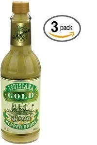 Louisiana Gold Wasabi Pepper Sauce - (3 Pack of 5 Oz.Bottles)