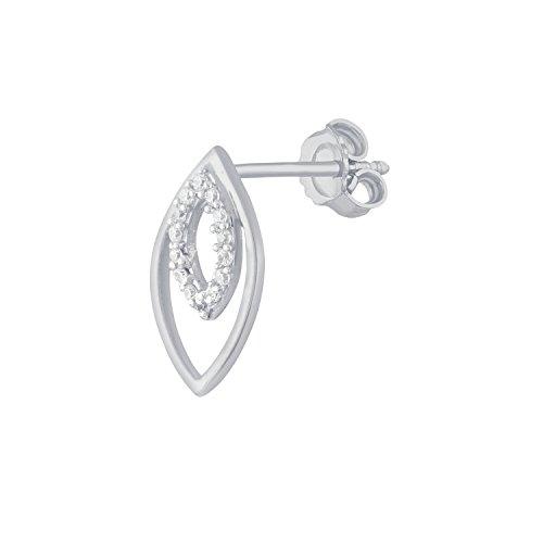 Giantti 14carats Diamant pour femme Boucles d'oreille à tige (0.964CT, VS/Si-clarity, Gh-colour)