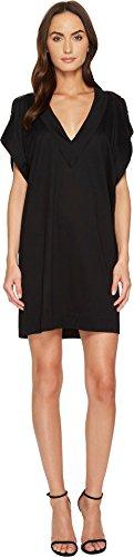 Versace Women's Stud Trimmed Slit Sleeve Dress Black - Ladies Versace