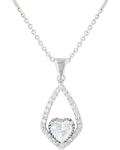 Montana Silversmiths Women's Hearts On A Swing Necklace Silver One -
