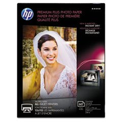 -- Premium Plus Photo Paper, 80 lbs., Glossy, 5 x 7, 60 Sheets/Pack