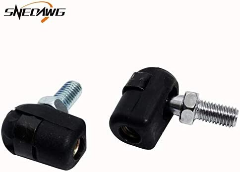 2 PCS Gas Spring End Ball Angle Screw Joint Stud 8Mm Male 6//8Mm Female Thread.Plastic Head Gas Spring Connectors for Car Trunk Color: M8 -
