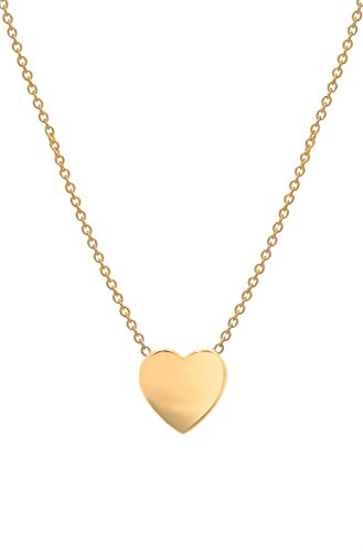 14k gold heart necklace by Zoe Lev Jewelry