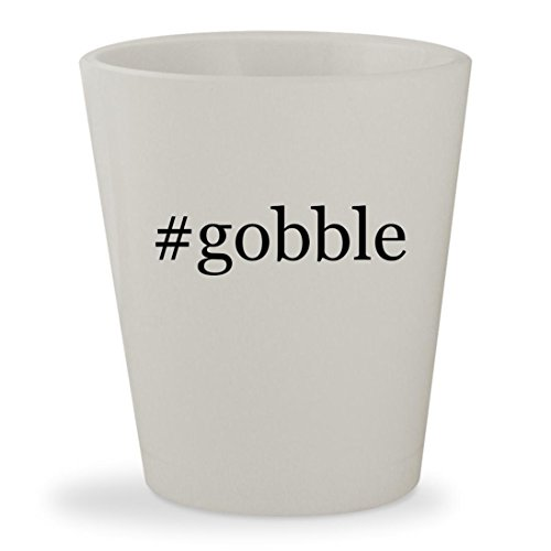 Price comparison product image #gobble - White Hashtag Ceramic 1.5oz Shot Glass