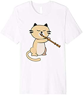 Cat Playing Flute  | Cool Wind Instrument  Gift T-shirt | Size S - 5XL