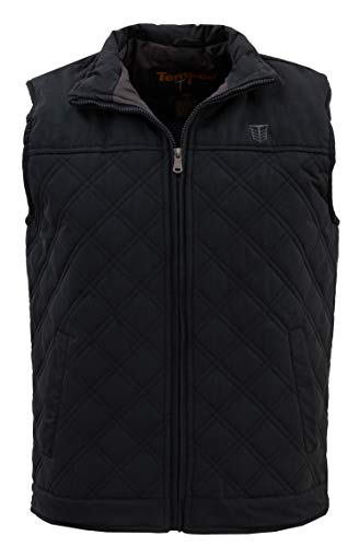 Tempco Men's Diamond Quilted Western Vest | BLKGRY | Size XL ()