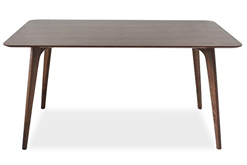 - Edloe Finch EF-Z4-DT005 Mid Century Modern Dining Table - Walnut Wood - 60 inch Kitchen Dining Room Table