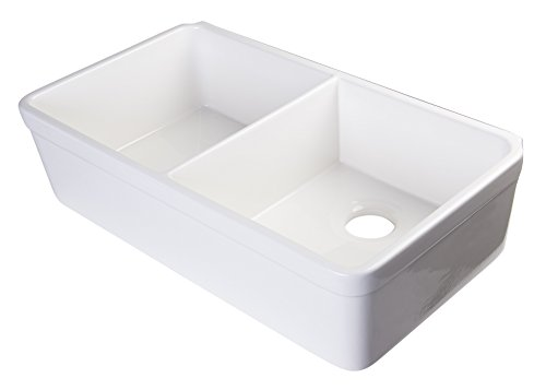 Fireclay Double Bowl Kitchen Sink - 4