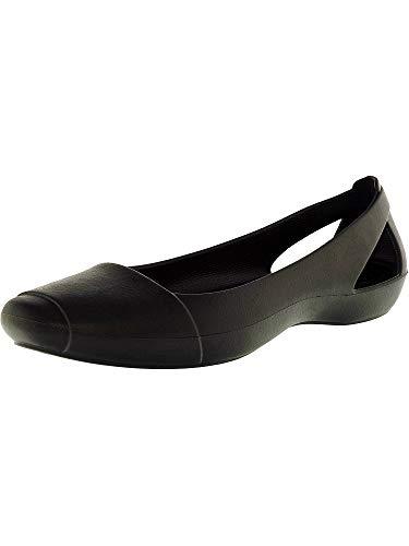 crocs Women's Sienna Flat, Black, 10 M US ()