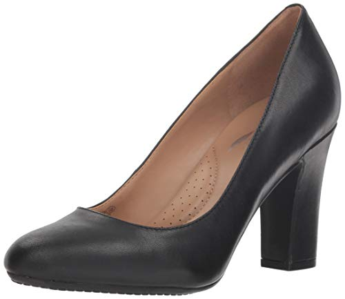 Aerosoles Women's Octagon Pump, Black Leather, 7 M US
