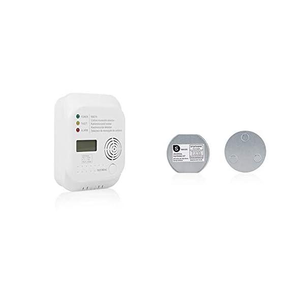 311cVH0YijL Smartwares RM370 Kohlenmonoxid CO Melder mit Display und Temperaturanzeige, Prüftaste, 1 Stück & Magenthalter für…