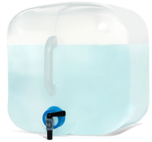 Alexapure 5-Gallon Water Tote, BPA-Free, Rugged For Emergencies and Outdoor Adventures, Collapsible and Easy to Carry