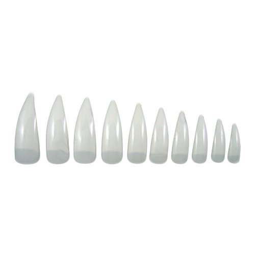 Curved Stiletto Nail Tips Pieces