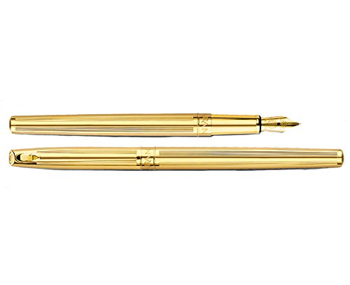 Caran d'Ache Madison Fountain Pen, Cisele Design with Gold-Plating, Nib M (Cisele Gold Plated)