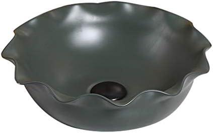 WJ 洗面台 バスルームの洗面台、ホームカウンタ流域緑色技術バニティ(タップなし)単一流域上記のクリエイティブセラミック、38X38X12.5cm /-/ (Size : 38X38X12.5cm)