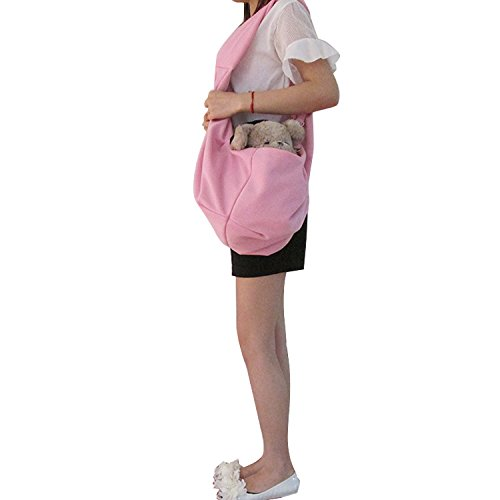 Pineocus Light Pink Cotton Blend Pet Dogs Sling Carrier Bag by Pineocus (Image #3)
