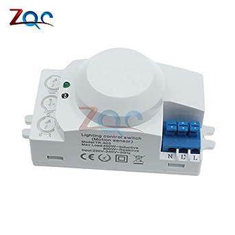 ETouch AC220-240V 5.8 GHz 360 grado ajuste de tiempo de microondas sensor de radar cuerpo sensor Motion HF detector de luz: Amazon.es: Industria, ...