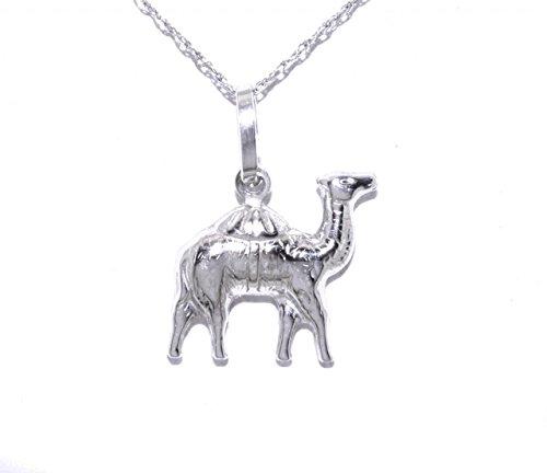 Shin Brothers Inc. 18k White Gold Camel Charm